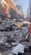 沈阳一饭店燃气爆炸半条街成废墟